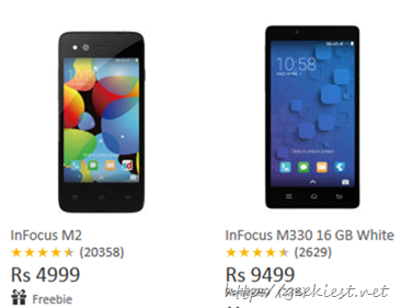 InFocus M2 and InFocus M330 available on SnapDeal without registration