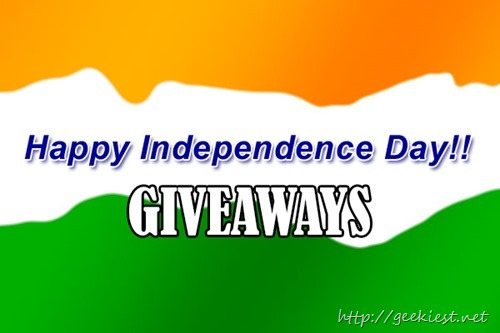 Indian Independence day giveaways