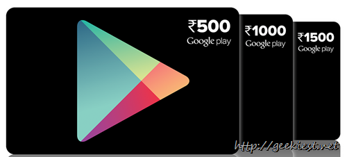 Indian users can now use google play  prepaid vouchers