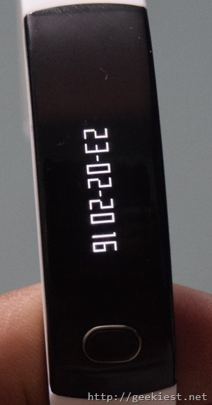 Intex FirRist fitness band-date display