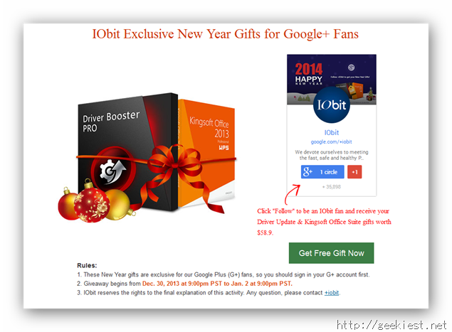 Iobit New Year Gift