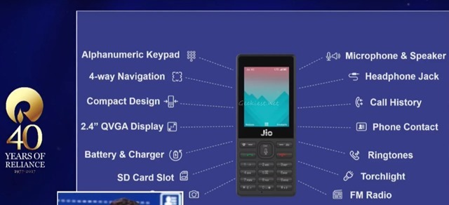 JioPhone Official Technical Specifications