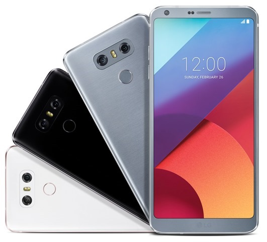 LG G6 Mystic White Astro Black Ice Platinum