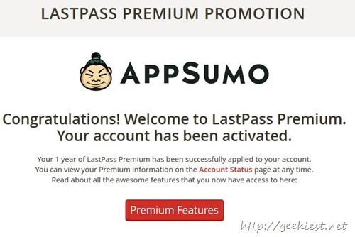 LastPass 1 year premium license for free
