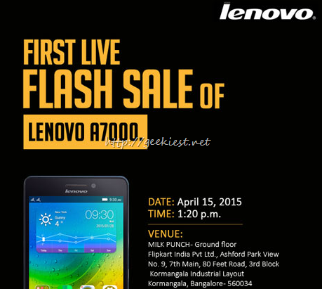 Lenovo A7000 Live flash sale at Bangalore