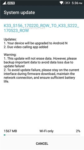 Lenovo K6 Power Android 7.0 Nougat Update 3