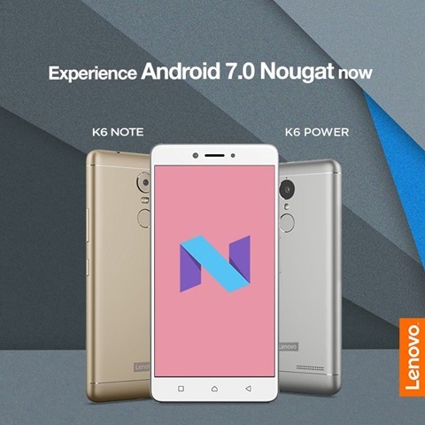 Lenovo K6 Power Android Nougat Update
