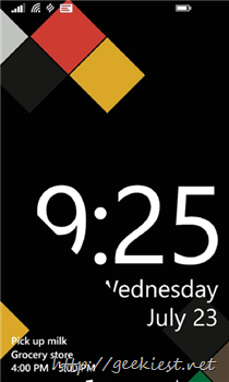 Live Lock screen app for Windows Phone from Microsoft