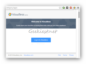 Login to Kloudless