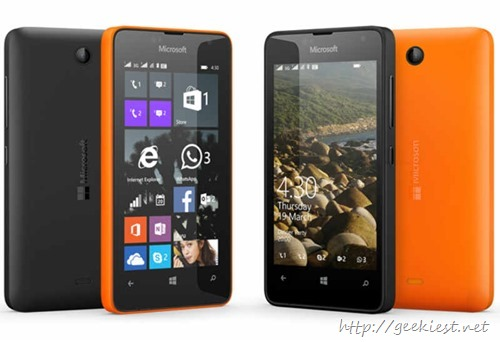 Lumia 430–Microsoft phone with 1GB ram priced INR 5299