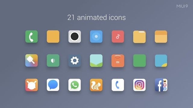MIUI 9 animated Icons