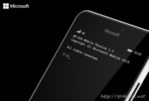 MS-DOS Mobile -  Windows Phone application from Microsoft