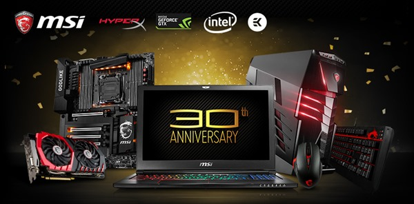 MSI giving away 30 Products in 30 days