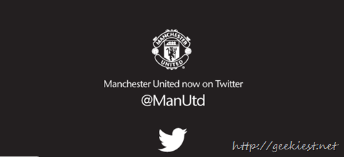 Manchester United is on Twitter now
