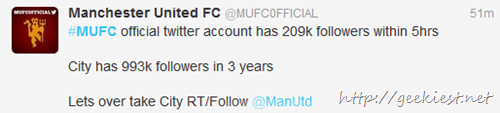 Manchester United is on twitter tweet 4