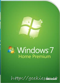 Microsoft Windows 7 Home premium Giveaway won