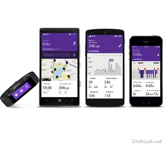 Microsoft Band Windows Phone Android iOS