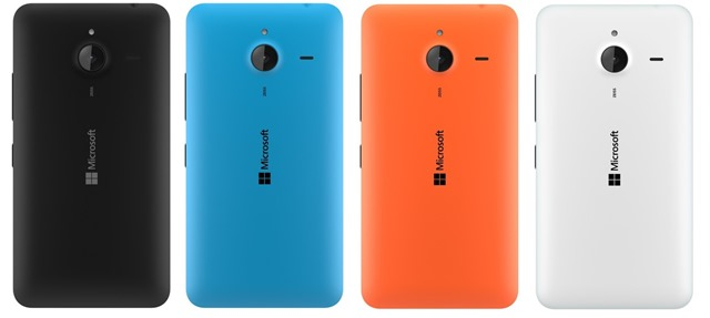 Microsoft Lumia 640 XL colors