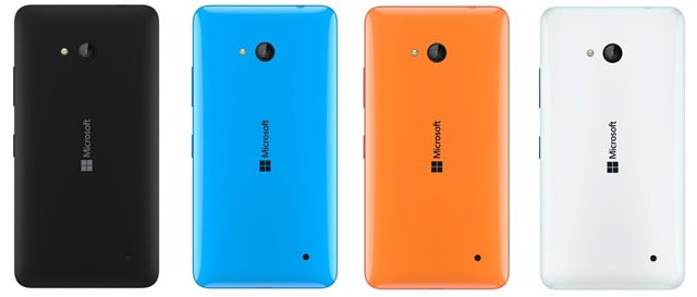 Microsoft Lumia 640 back colors