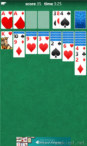 Microsoft Solitaire screenshot