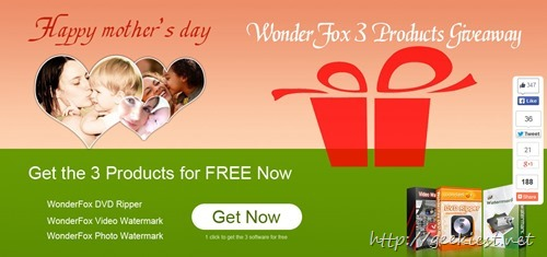 Mothers Day Giveaway - WonderFox DVD Ripper, Video Watermark and Photo Watermark
