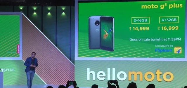 Moto G5 Plus India Price
