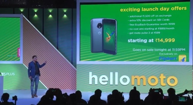 Moto g5 plus launch offers