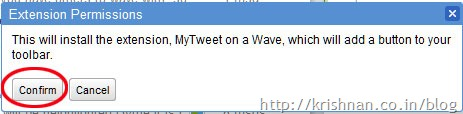 My-tweet-on-wave-confirm-Install-extention