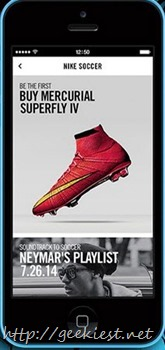 NIKE Soccer application will be available on July 10