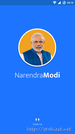 Narendra Modi - Official App of Prime Minister of India is available on Play store