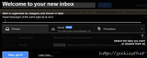 New Gmail inbox design rolling out