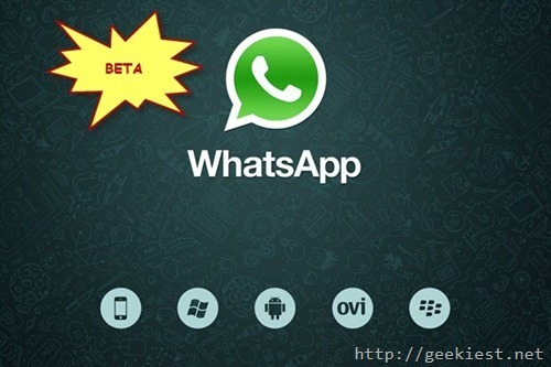 New whatsapp beta features