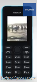 Nokia 108 - a camera phone for just 30 USD