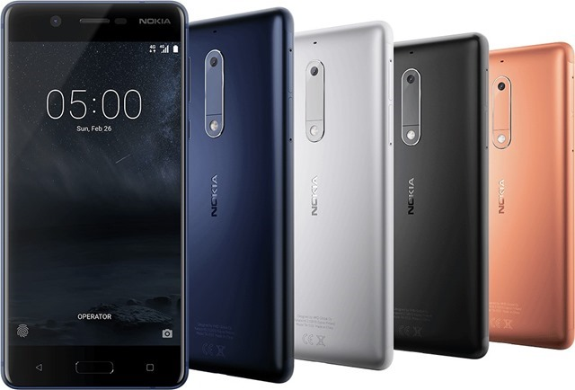 Nokia 5 colours