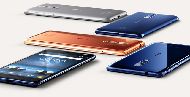 Nokia 8 official colours