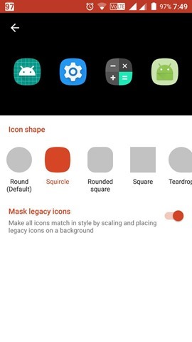 Nova Launcher Adaptive Icons Shapes
