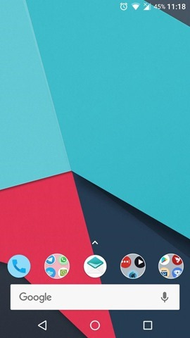 Nova Launcher searchbar in dock 3