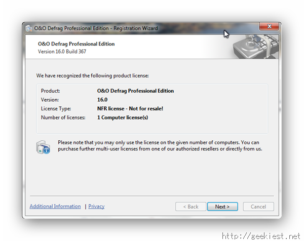 OO Defrag Professional Edition Registered