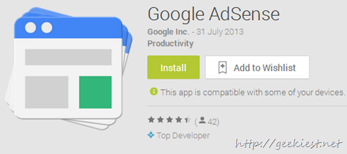 Official Adsense app for android