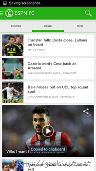 Official ESPN Football application for Android 4