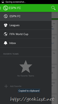 Official ESPN Football application for Android 6