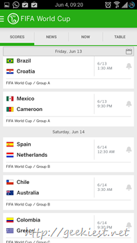 Official ESPN Football application for Android 7