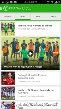 Official ESPN Football application for Android 9