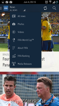 Official FIFA Application for Android 5