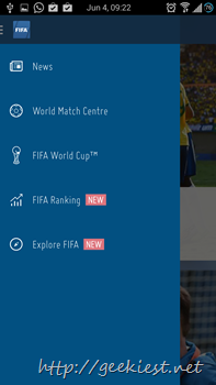Official FIFA Application for Android 6