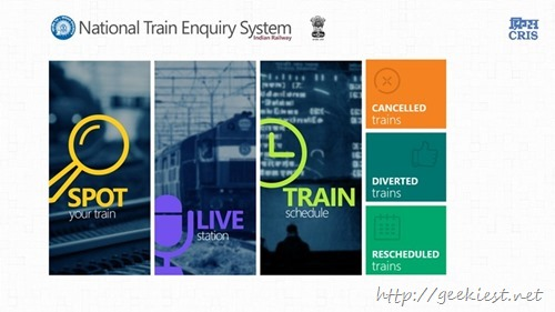 Official National Train Enquiry System Application for Windows 8 and Windows Phone