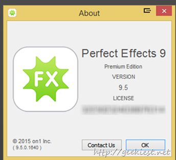 On1 Perfect Effects 9.5  Premium License giveaway