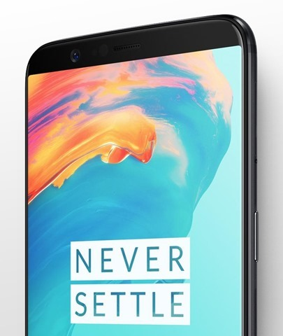 OnePlus 5T edge to edge display