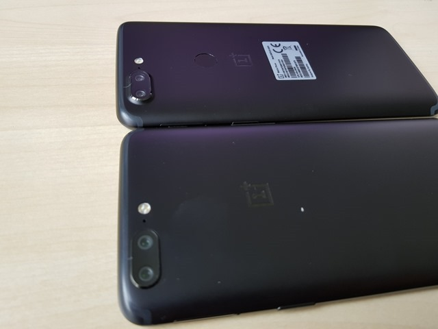 OnePlus 5T leaked real-life photos back panel
