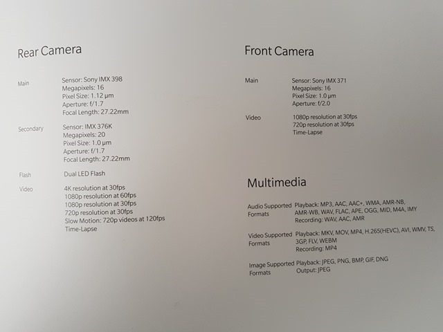 OnePlus 5T leaked real-life photos technical specifications 2